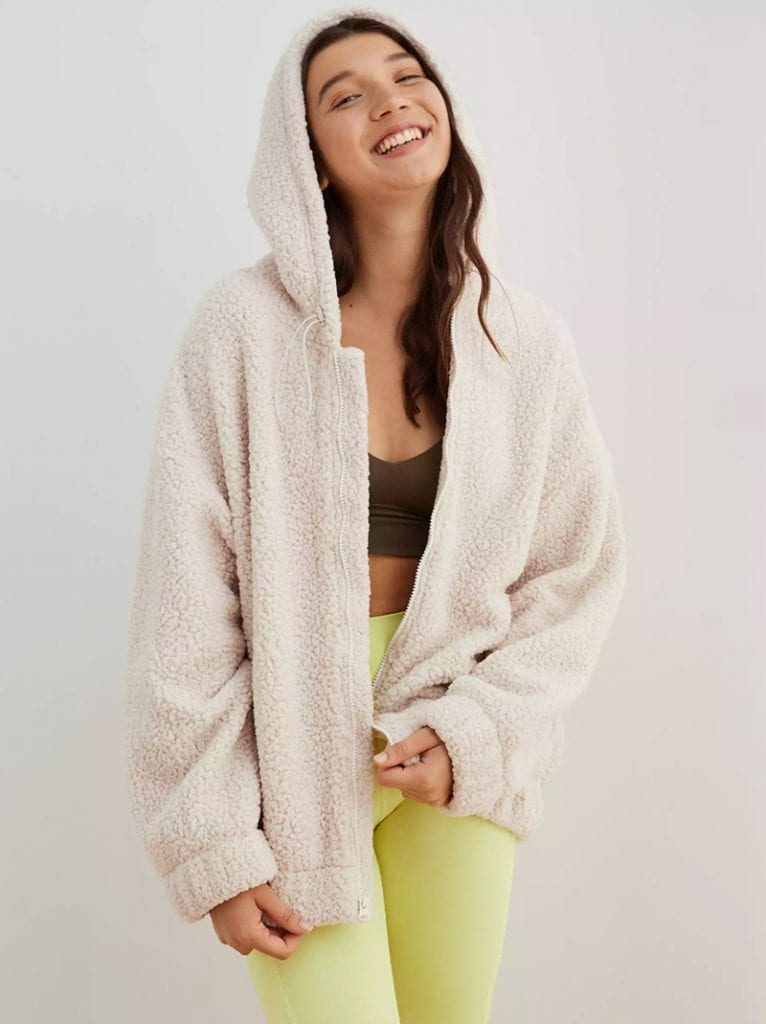 Valentines Day Gift Guide Oversized Sherpa Jacket